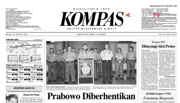 Capture Koran Kompas Tahun 1998