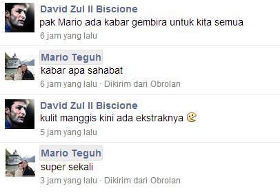 Ketika pak Mario Teguh diberikan kabar gembira. :D