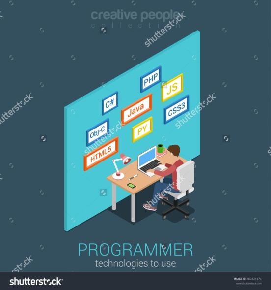 programer - koding - flat design - shutterstock