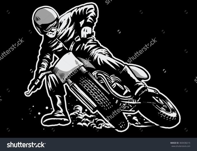 Rider - motor - pembalap - flat design - shutterstock