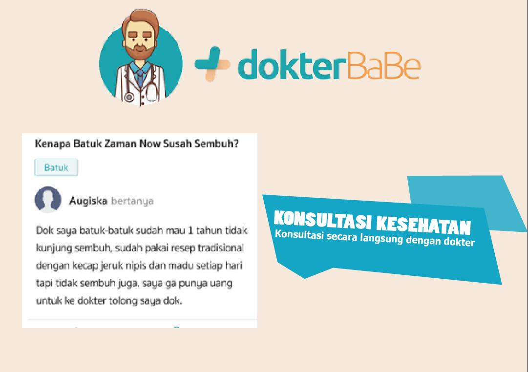 dokterbabe konsultasi langsung dengan dokter secara online