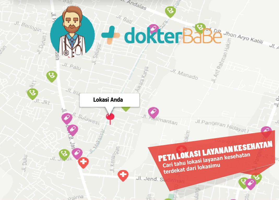 Maps peta layanan kesehatan terdekat doktebabe